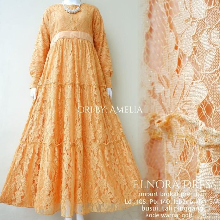 Jual Gamis Brokat Terbaru 2020 Dress Pesta Muslim Elnora Ori Aml Kota Surakarta Sanisa Collection Tokopedia