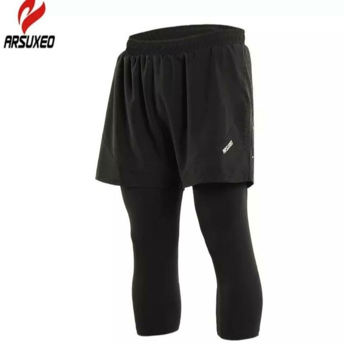 Jual Double Legging Pria Celana Pendek 2 In 1 Man Sport Running Shorts Lari Jakarta Barat Ribbon Republic Tokopedia