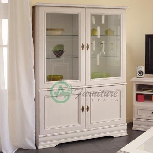 Jual Lemari Hias Ruang Tamu Minimalis Elise Kab Jepara Ag4 Furniture Tokopedia