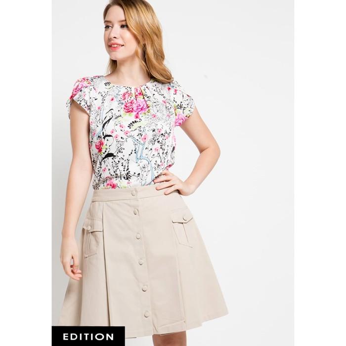 Foto Produk Blouse Wanita EDITION EB18WHITE Daisy Rose - L dari Edition Official Store