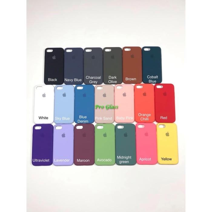Foto Produk C201.5 Iphone 7 / 8 Original FULL Apple Silicon Leather Case Silicone dari Pro Glass