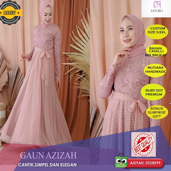 Jual Baju Gamis Pesta Dress Wanita Brukat Muslim Brokat Mewah Elegan Cantik Kab Bekasi Aisyah Store99 Tokopedia
