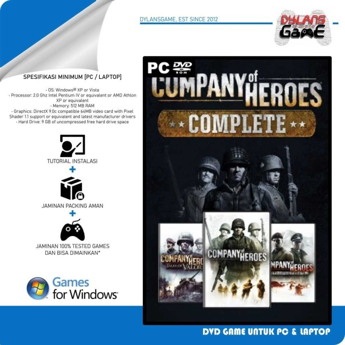 Jual Company Of Heroes Complete Edition Dvd Game Pc Pc Games Kota Makassar Dylansgame Tokopedia