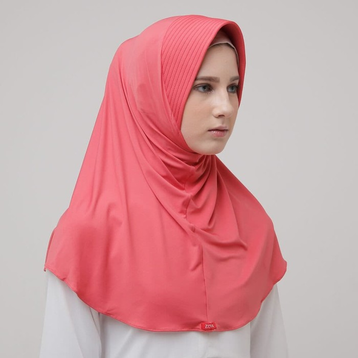 Foto Produk Hijab Bergo Zoya - MARSHA HL TROPICAL PINK dari DaBest