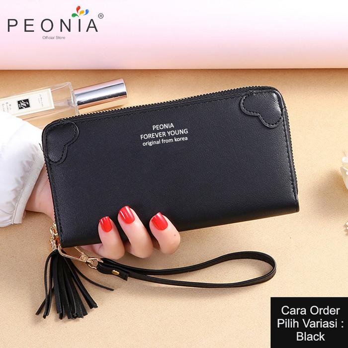 Foto Produk Peonia - Dompet Wanita Panjang Hp Import -Korea Wallet- Double Love LG - Black dari Peonia Official Store