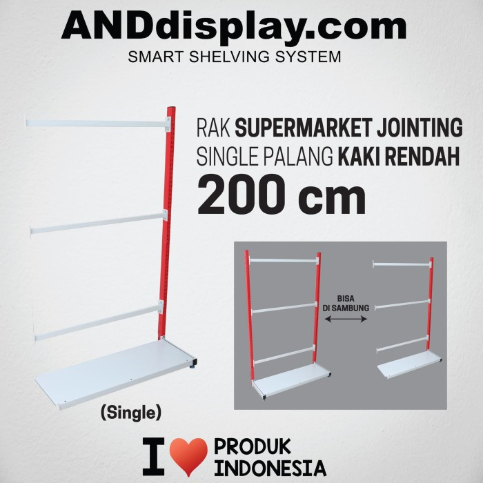 Foto Produk RAK SUPERMARKET 200 CM ADJOINTING SINGLE PALANG RAK GONDOLA ANDDISPLAY dari SINAR KARYA RAKINDO