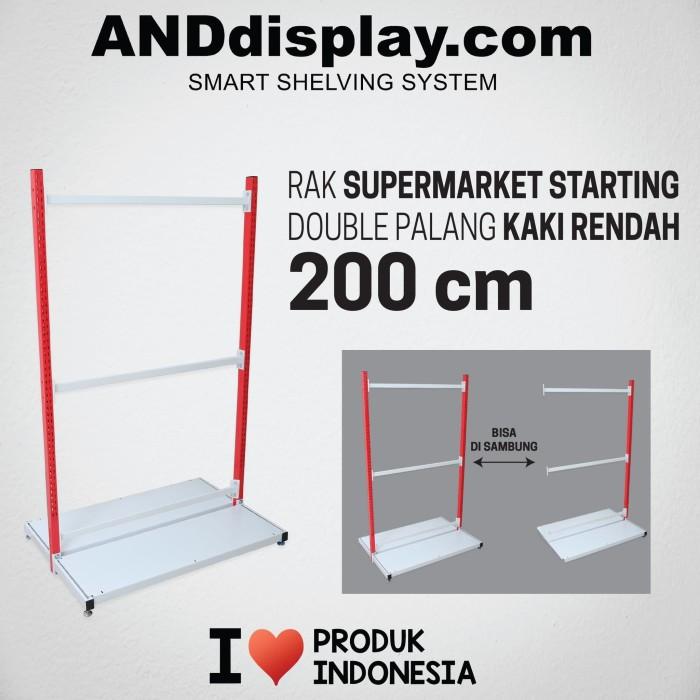 Foto Produk RAK SUPERMARKET 200 CM STARTING DOUBLE PALANG RAK GONDOLA ANDDISPLAY dari SINAR KARYA RAKINDO