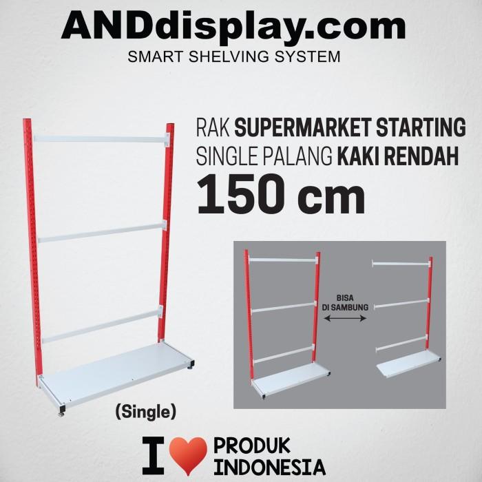 Foto Produk RAK SUPERMARKET 150 CM STARTING SINGLE PALANG RAK GONDOLA ANDDISPLAY dari SINAR KARYA RAKINDO