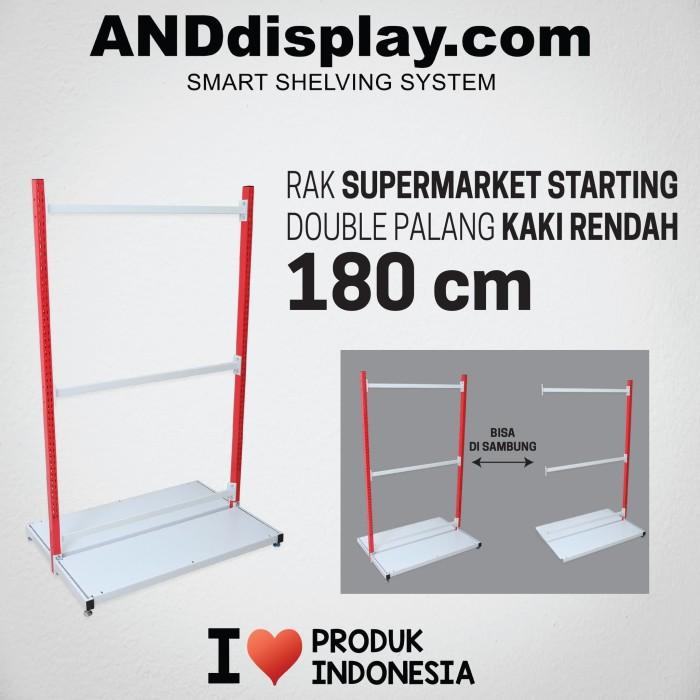 Foto Produk RAK SUPERMARKET 180 CM STARTING DOUBLE PALANG RAK GONDOLA ANDDISPLAY dari SINAR KARYA RAKINDO