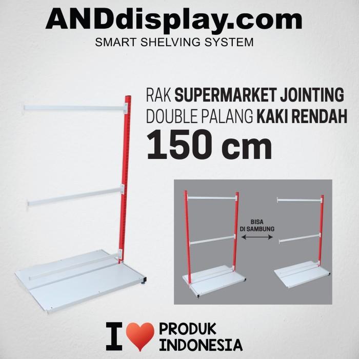 Foto Produk RAK SUPERMARKET 150 CM ADJOINTING DOUBLE PALANG RAK GONDOLA ANDDISPLAY dari SINAR KARYA RAKINDO