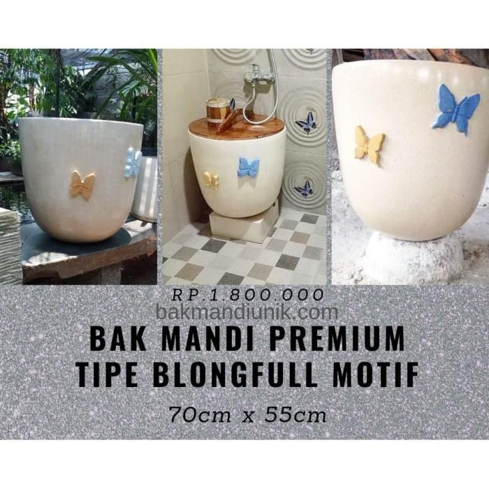 Foto Produk Bak Mandi Premium Tipe Blongfull Motif Kupu-kupu dari Teras Terrazzo