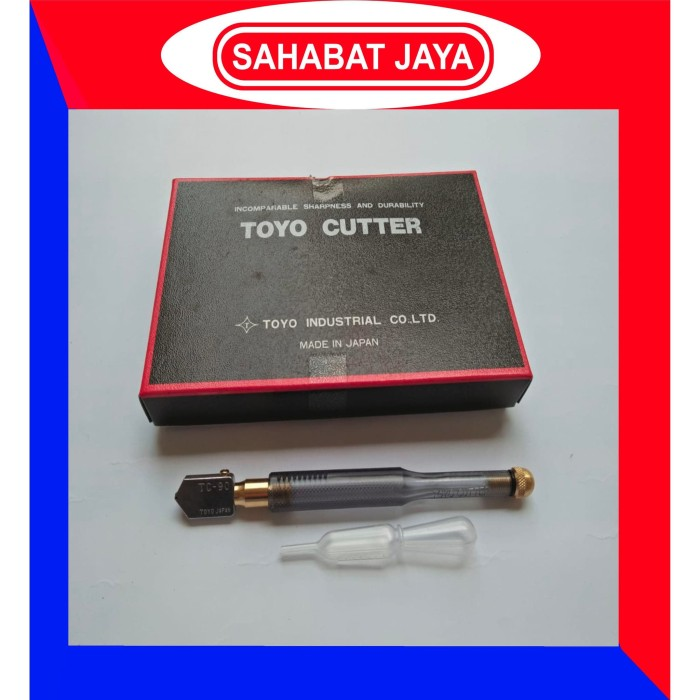 Foto Produk Pemotong Kaca Glass Cutter Pisau Kaca Toyo TC 90 TC-90 TC90 ASLI Japan dari UD. Sahabat Jaya