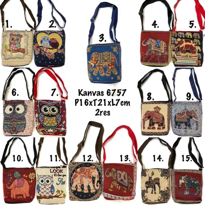 Foto Produk tas selempang mini import thailand / sling bag gajah owl bangkok dari tas thailand grosir