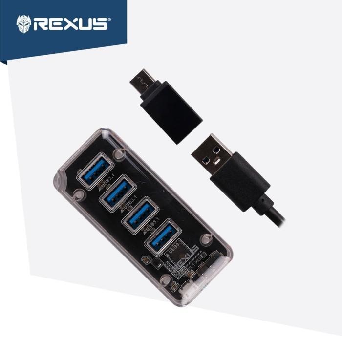 Foto Produk Rexus USB Hub 3.1 H336 4 Port + Converter Type C dari Rexus Official Store