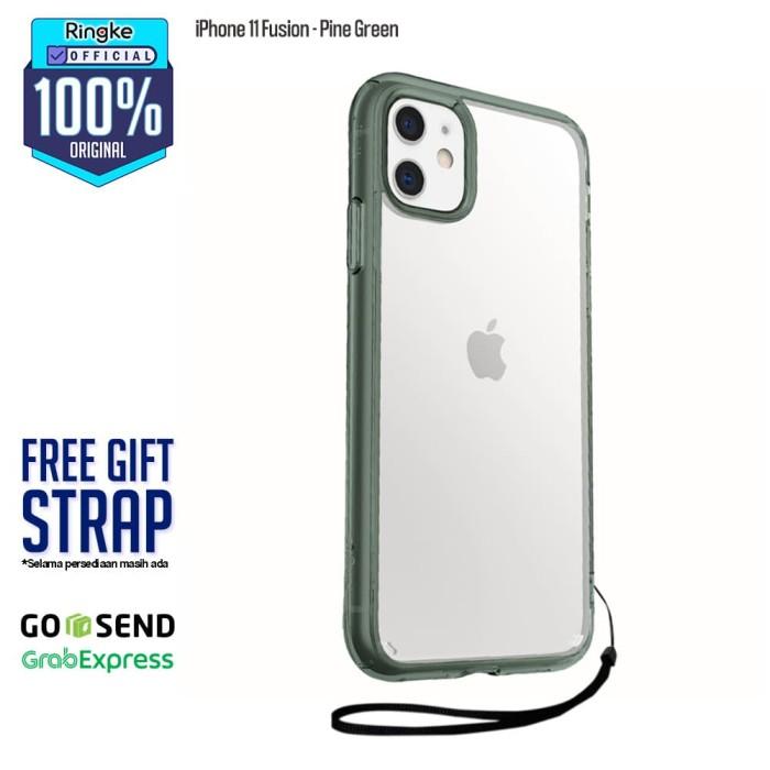Foto Produk Rearth Ringke iPhone 11 Fusion Anti Crack Original - Pine Green dari Official Ringke Partner