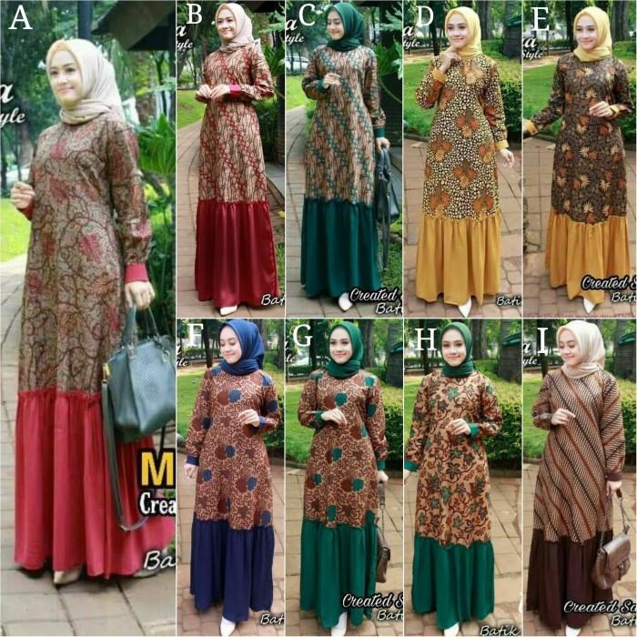 Jual Gamis Batik Rampel Baju Batik Gamis Meisya Style Gamis Batik Muslimah Kota Pekalongan Ilul Sy Batik Tokopedia