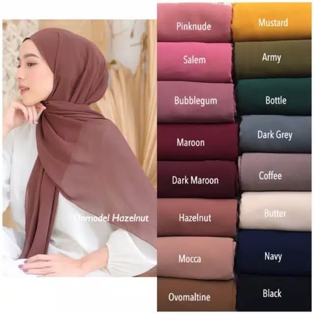 Jual Pashmina Ceruty Babydoll Best Seller Hijab Pasmina Ceruty Putih Jakarta Selatan Serbamurahid Tokopedia