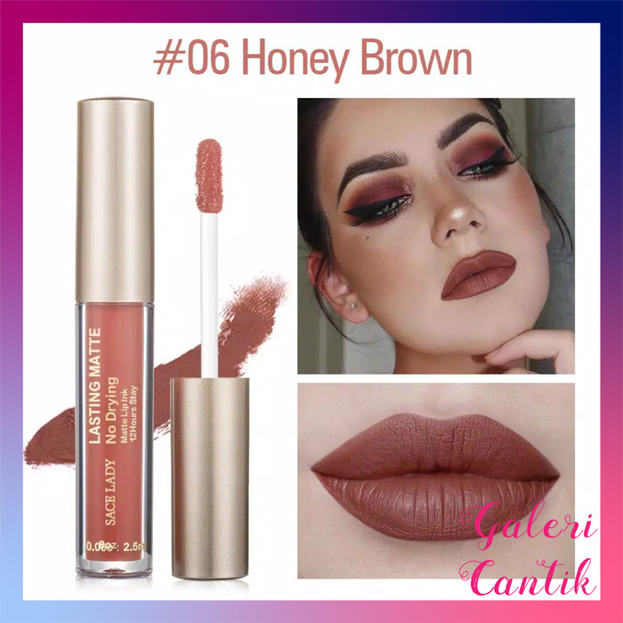 Foto Produk Sace lady lipcream Honey Brown waterproof dari Galeri Cantik Official