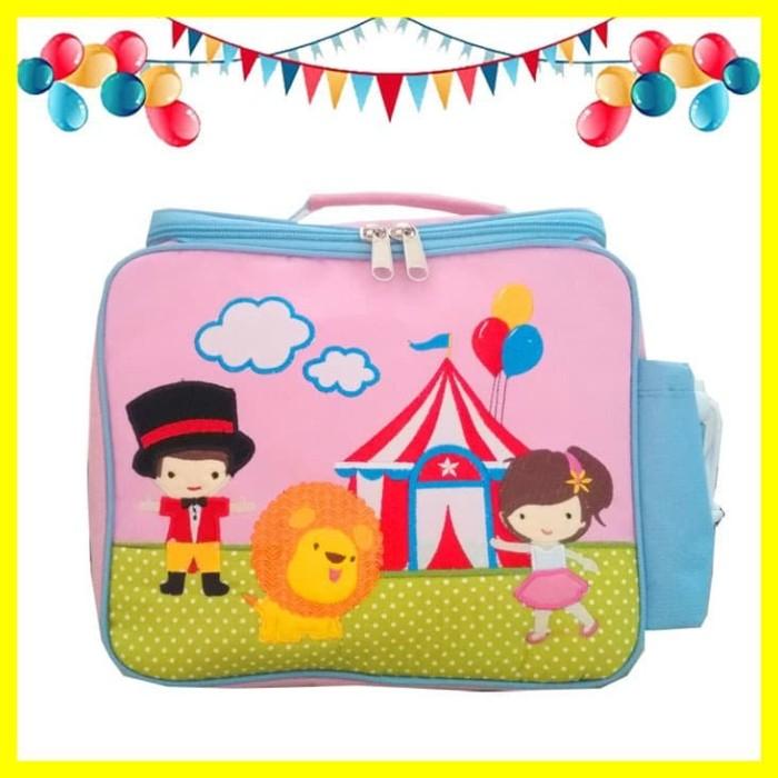 Foto Produk Tas Selempang Bekal Makan Makanan Siang Lunch Bag Anak Sekolah Circus dari Iyesh Online Store