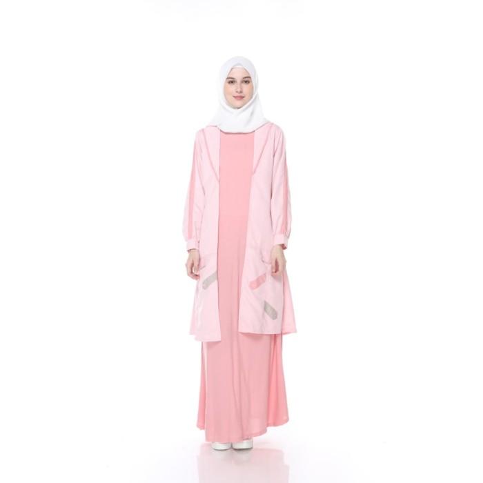 Jual Lunan Go Dress Gamis Blazer Cardigan Wanita Remaja Pink Ls 721 M Jakarta Selatan Lunangoofficial Tokopedia