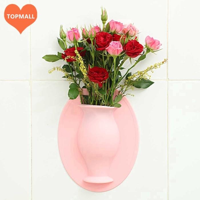 Jual Terbaik Silicone Sticky Vase Reusable Wall Mounted Flower Holder Jakarta Utara Terra Dim Tokopedia