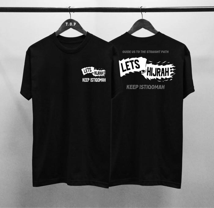 Foto Produk T-shirt Lets Hijrah / Baju Kaos Dakwah Pria / Kaos Islamic Pria dari revenge eleven