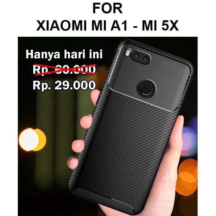 Foto Produk Case Xiaomi Mi A1 MiA1 Mi 5X softcase casing cover AUTO FOCUS CARBON dari Case Pedia