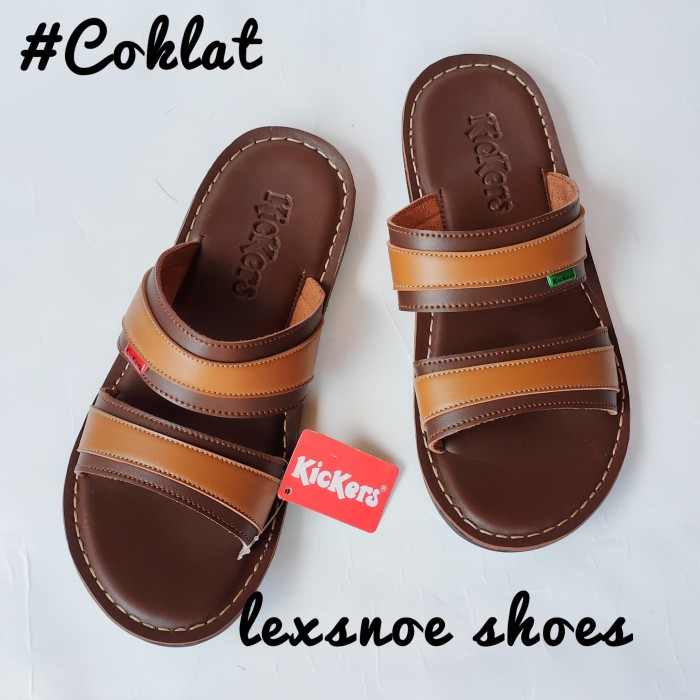 Foto Produk Sepatu sandal kickers pria sendal kickers kulit lembut - coklat tua, 39 dari lexsnoe shoes