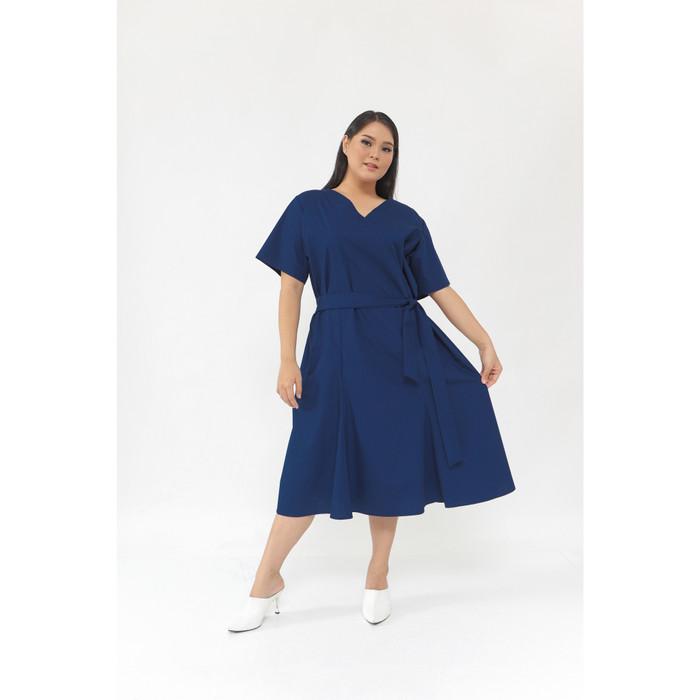 Foto Produk Caspia Dress Plus size - Navy dari Pofeleve
