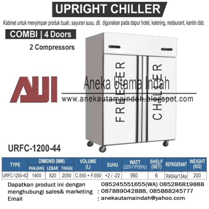 Jual Urfc 1200 4d Upright Combi Chiller Freezer Kabinet Chiller Freezer Jakarta Timur Aneka Utama Indah Tokopedia