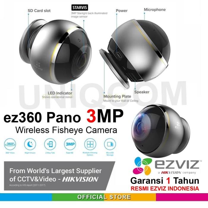 Foto Produk Ezviz C6P Ez360 Pano 3MP WiFi IP Camera CCTV With 360 Panoramic View dari Uniq Computer