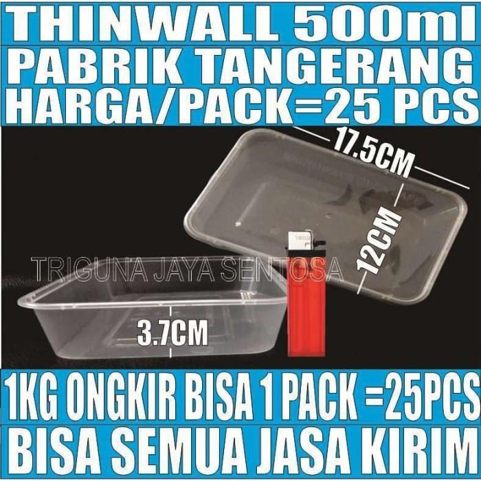 Foto Produk Thinwall 500 ml food container box tempat kotak makanan plastik murah dari kebutuhan pokok sembako