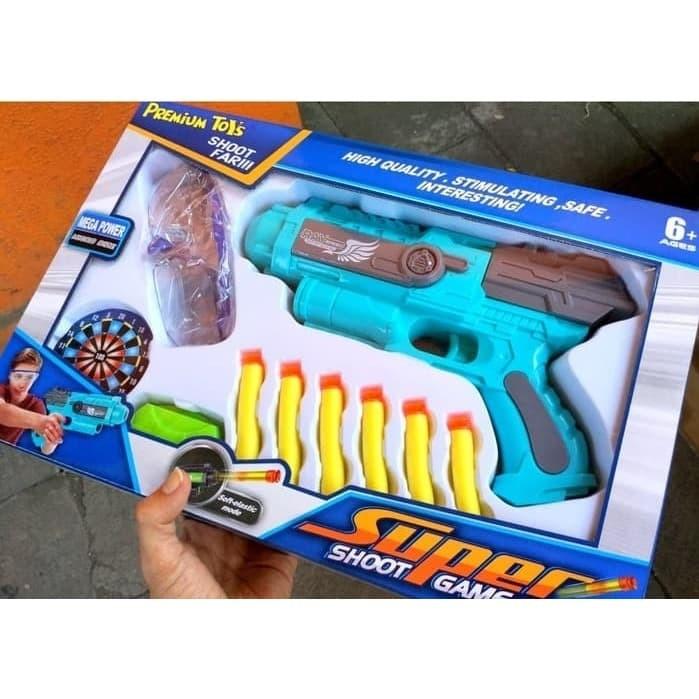 Foto Produk Mainan Nerf Soft Bullet Gun Premium Super Shoot Game Pistol Sedang dari Kiddies World