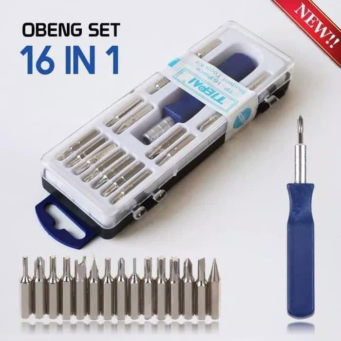 Foto Produk Obeng Set Multi 16 in 1 Screwdriver Handphone Elektronik 16in1 Tools dari PELANGI15 ACCESORIES
