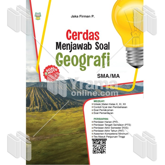 Foto Produk BUKU CERDAS MENJAWAB SOAL GEOGRAFI SMA/MA dari Yrama Widya Online