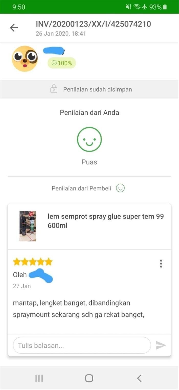 Jual Terpopuler Lem Semprot Spray Glue Super Tem 99 Hebat Jakarta Selatan R Brow
