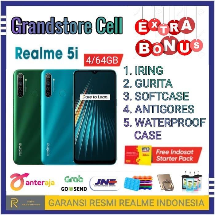 Foto Produk REALME 5I RAM 4/64 GB GARANSI RESMI REALME INDONESIA - Demo Tanpa Dus dari Grandstore cell