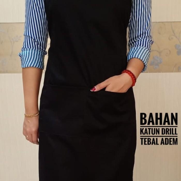 Foto Produk APRON / CELEMEK TEBAL MURAH - Hitam dari seragam koki