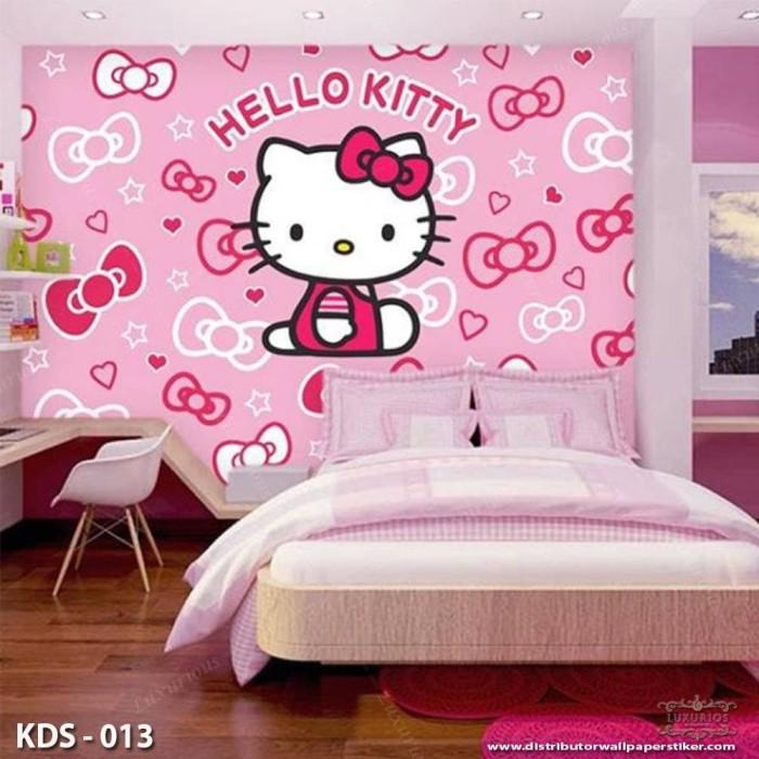 Jual 3d Costom Wallpaper Dinding Motif Hello Kitty Jakarta Barat Abbi Sale Store Tokopedia