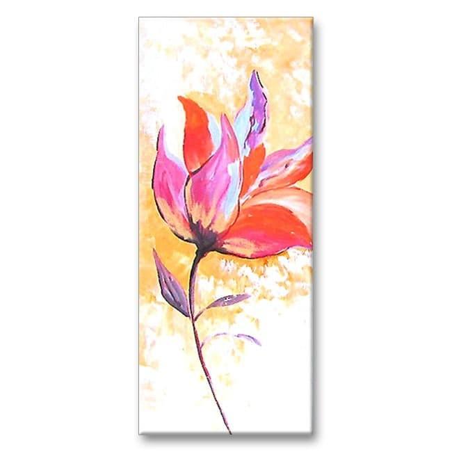 Lukisan Bunga Raya Tanpa Warna