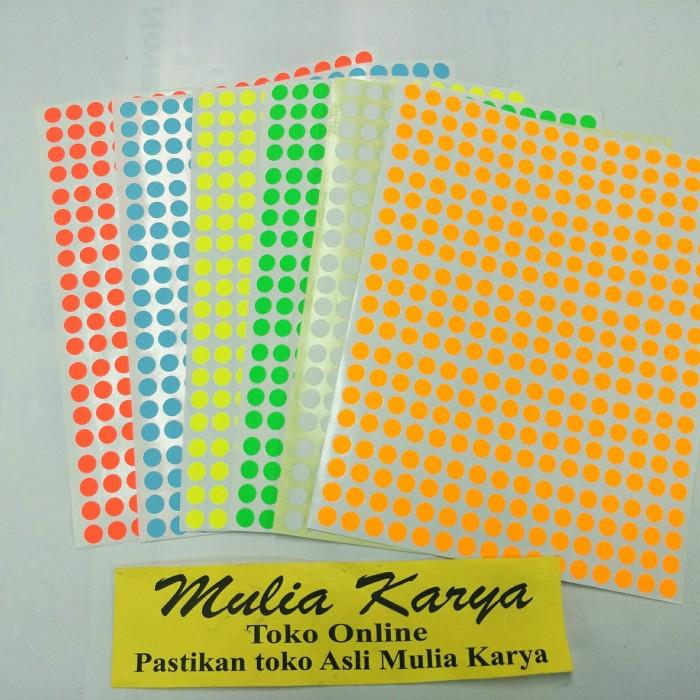 Foto Produk Label Stiker Warna Bulat KECIL 8 mm Stiker Dot dari MULIA KARYA