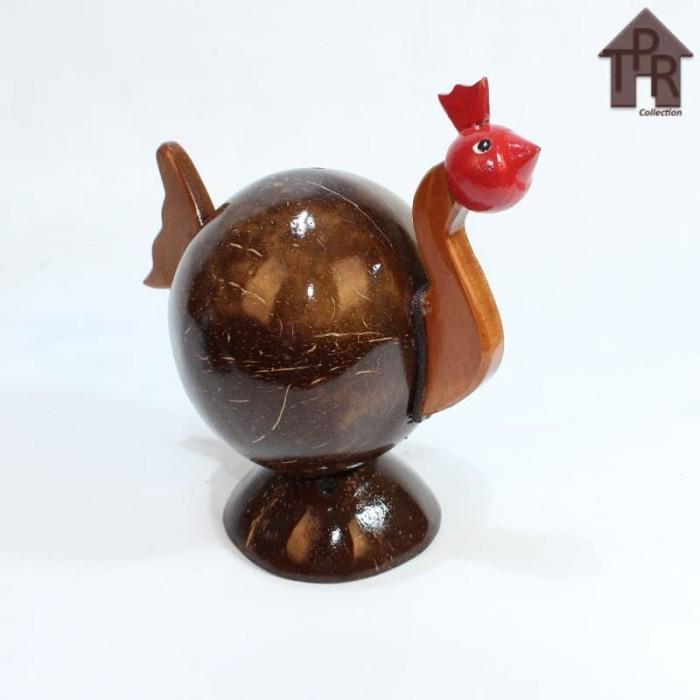 Foto Produk Kerajinan Batok Kelapa│Celengan Ayam Natural dari Toko Pernik Rumah