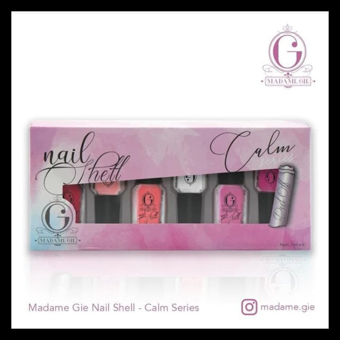 Foto Produk Madame Gie Nail Shell Peel Off 1 Set (Isi 6 Botol) - Natural dari evaxlie