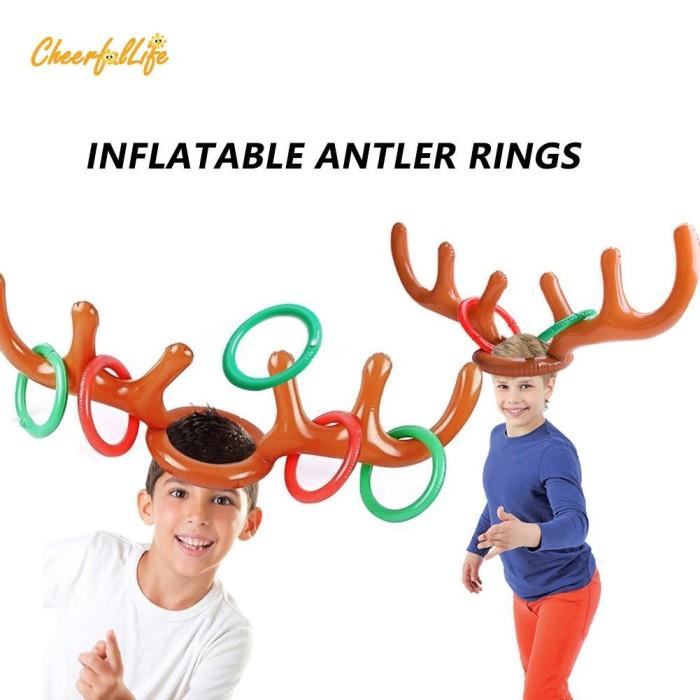 Jual Baru Ch 2pcs Christmas Party Inflatable Reindeer Antler Hat Ring Kota Bogor Girl Acecories Tokopedia