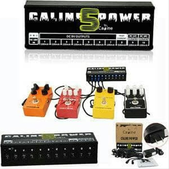 Foto Produk Caline CP-05 Power Supply Multi Pedal Efek Gitar PSU 10 Output & dari paulastore2020