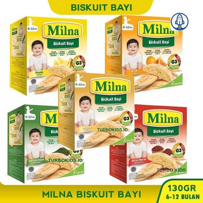 Jual Milna Biskuit Bayi 130gr Kacang Hijau Kota Depok Turbo Kids Tokopedia