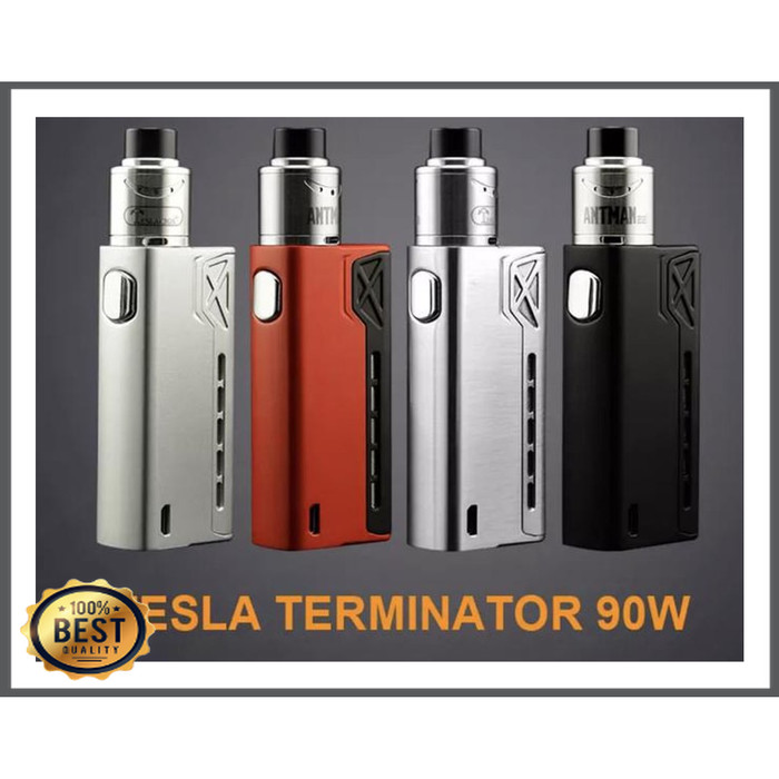 Jual Buruan Vape Tesla Terminator 90w Starter Kit Free Liquid Batre Siap Jakarta Utara Wrd Cious Tokopedia