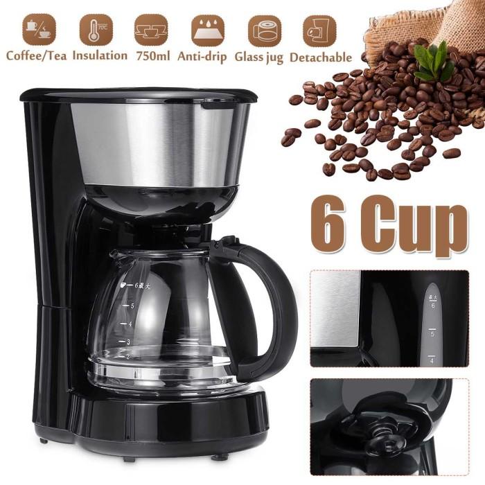 Jual Coffee Machine 750ml Household Office American Style Drip Tea Coffee Kab Banyumas Produkimport014 Tokopedia