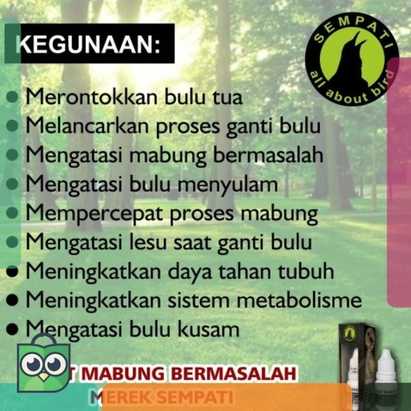 Jual Best G010027 Obat Burung Mabung Bermasalah Jakarta Barat Bigtopz Farm Tokopedia