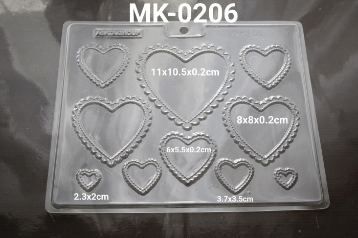 Foto Produk MK-0206 Cetakan mika coklat frame hati renda dari Yamama Baking